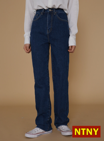 [NTNY-014] HIZE DENIM PANTS (Deep Blue)