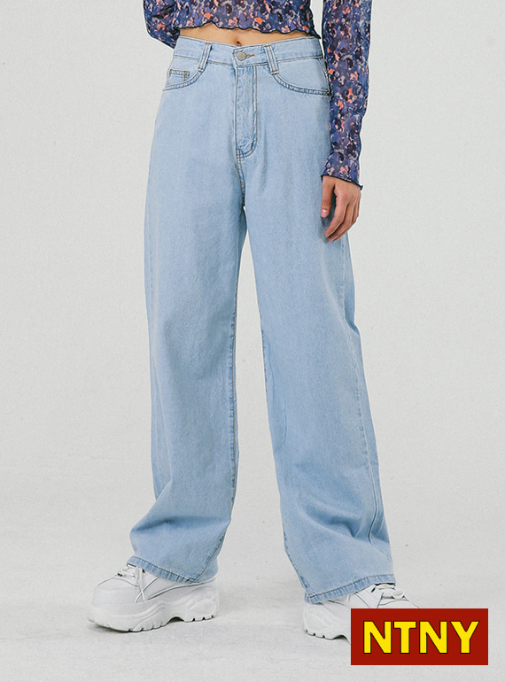 [NTNY-046] RAY DENIM WIDE PANTS
